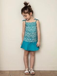Blauer Rock Kind Mädchen ZLUCETTE2 / 21E2PFL2JUP714