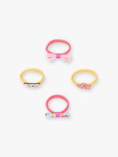 Set aus 4 sortierten Gummibändern für Kinder und Mädchen ZEUCHETTE / 21E4PF89ELAF507