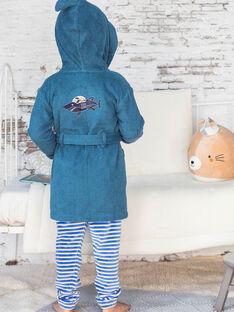 Junge Ente blauen Kapuzenbademantel mit Hai-Design BEPEIGNAGE / 21H5PG61PEI714