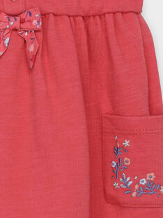 Rosa kurzärmeliges Kleid RABETTY / 19E1BF21ROB303