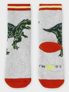Socken aus Bouclé für kleine Jungen, grau meliert TAFOTAGE / 20E4PGB2SOQJ920