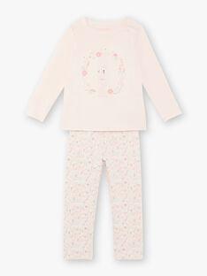 Rosa Pyjama-Kind Mädchen ZEPOMETTE / 21E5PF15PYJD328