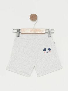 Baby-Joggingshorts für Jungen, grau meliert TAPIERROT / 20E1BGP1JGBJ920