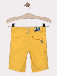 Bermuda-Shorts gelb Junge SALOUAGE / 19H3PG22BER104