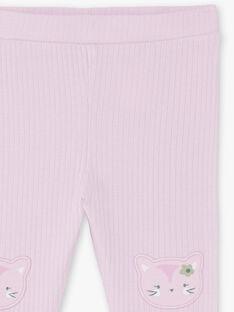 Baby Mädchen gerippte Parma-Leggings BACLARISSE / 21H4BF21CAL320