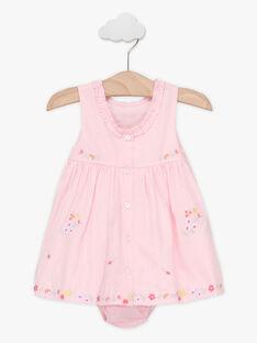 Besticktes Baby-Kleid für Mädchen, rosa TALOISE / 20E1BFJ1CHS321