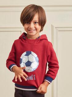 Kapuzenpullover für Jungen in Rot und Marineblau BUSWETAGE1 / 21H3PGF1SWEF527