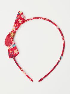 Stirnband mit Blumendruck und Pompon für kleine Mädchen TIUSERTETTE / 20E4PFL2TETF510