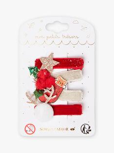 4 sortierte Weihnachtsschleifen für Mädchen BLOKOKETTE / 21H4PFT5BRT954