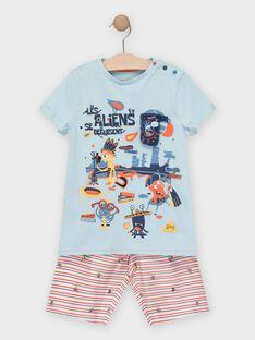 Schlafanzug Jungen Sergent Major, aus unserer originellen Kollektion, die die Phantasie von Kindern im Alter von 0 bis 11 Jahren anregen soll. TEALIAGE / 20E5PGE1PYJC219