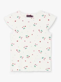 Weißes T-Shirt mit Erdbeerdruck ZETIZETTE 2 / 21E2PFJ2TMC001