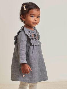 Baby Girl Houndstooth Print Kleid BAMARION / 21H1BFM1ROB090