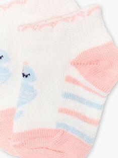 Rosa, blaue und ecrufarbene Socken ZAPRETTY / 21E4BFT1SOB001