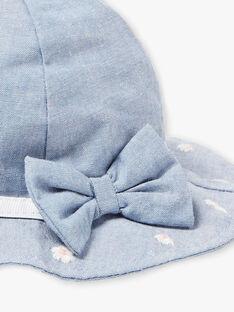 Gestickte Mütze für Baby-Mädchen mit Blumen ZAPATIENCE / 21E4BFT1CHA721