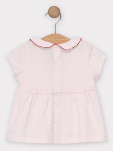 Hellrosa Baby-T-Shirt Mädchen TASABRINA / 20E1BFQ1BRAD317