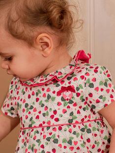 Bedruckte Bluse aus Rohsatin und Rassel ZAALICE / 21E1BFJ1CHE001