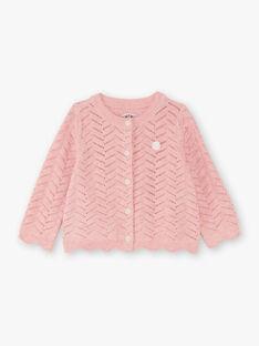 Baby Girl's Pink Mesh Vest BAINES / 21H1BFJ2CARD314