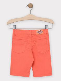 Korallenrote Bermuda-Shorts Jungen TITOAGE / 20E3PGP2BER415