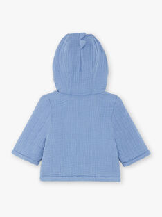 Baby Junge blaue Kapuzenjacke ZOUHIR / 21E0CGG1VESC203