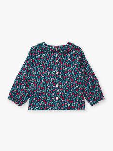 Baby Mädchen blau Blumendruck lange Ärmel Bluse BAGANIE / 21H1BF91CHE714