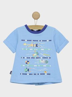 Blaues kurzärmeliges T-Shirt RAUMEO / 19E1BGP1TMC205