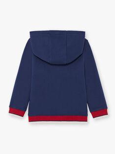 Kapuzenpullover für Jungen in Rot und Marineblau BUSWETAGE2 / 21H3PGF2SWE705