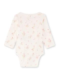 2 ecrufarbene und rosa Bodys für Mädchen BOUDOUR / 21H0NF41BOD301