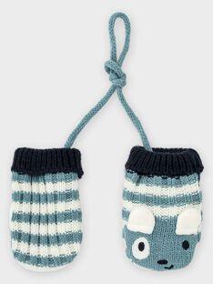 Baby-Fäustlinge mit Streifen für Jungen, graublau TACHERIF / 20E4BGC1GAN001