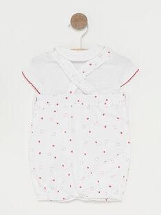 Baby-Set Body und Latzhose für Mädchen TUVANDA / 20E0CFR1ENS000