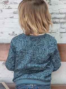 Marineblaues Dinosaurier-Sweatshirt für Jungen BUWAGE2 / 21H3PGB1SWE614