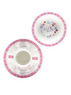 Rosa-weißes Mahlzeitenset ROPASFILLE / 19EZLAX2KTR001