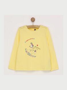 Gelbes langärmeliges T-Shirt RADUFETTE / 19E2PF61TMLB105