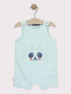 Kurzer Baby-Jumpsuit für Jungen, türkisblau TAPAPE / 20E1BGP1CBLC200