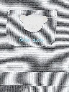 Kurze gestreifte Baby-Latzhose für Jungen TUVINCENT / 20E0CGR1SAC070