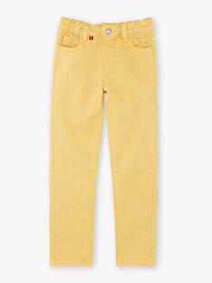 Gelbe Hosen für Jungen ZAZITAGE3 / 21E3PGK4PAN010