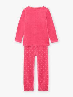 Rosa phosphoreszierendes Halloween-Pyjama-Set für Baby-Mädchen und passende Tasche BEBOUETTE / 21H5PFH1PYJD331