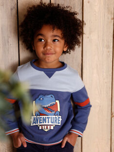 Sweatshirt blaues Kind Junge ZECRAGE / 21E3PGB2SWEC230