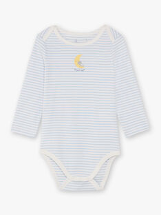 Boy's 3 weiß und Himmel bodysuits BEGABRIEL / 21H5BG81BDL001
