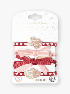 Strawberry rose HAIR ELASTIC VUNOUETTE / 20H4PFH2ELA308