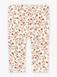 Baby Girl's Off White Floral Print Legging BAIDYLLE / 21H4BFJ1CAL001