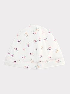 Weiße gerippte Babymütze Baby Mädchen SYANGIE / 19H0AF12BNA000