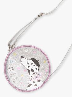 Silberne Umhängetasche für Baby-Mädchen mit Dalmatiner-Motiv BEBAGETTE / 21H4PF21BES956