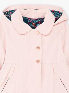 Baby Girl's Pink Raincoat mit integrierter Daunenjacke BINELLY / 21H1BFC2IMPD329