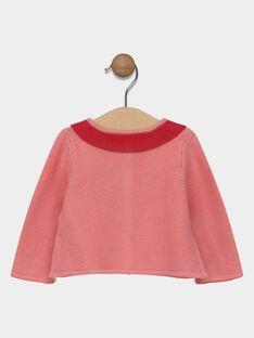 Cardigan rosa mit Kragen Baby Mädchen SACLAIRE / 19H1BF31CAR305
