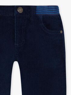 Mitternachtsblaue Hose für Jungen mit Einsätzen BUXUAGE1 / 21H3PGF2PAN705