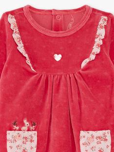 Baby Mädchen Himbeere Strampler BEBINA / 21H5BF62GRED325