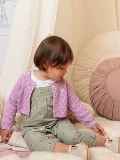 Baby Mädchen rosa gestrickte Strickjacke BACAITLIN / 21H1BF22CAR329