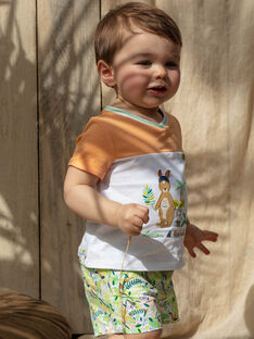 Baby-Shorts Jungen mit Tropik-Print TAWES / 20E1BGX1SHO001