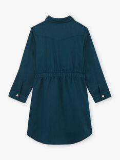 Kind Mädchen blau Safari Kleid BRORECETTE3 / 21H2PFB8ROB714