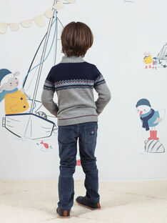 Blaue Hose für Jungen mit Kordeinsätzen BIOLAGE / 21H3PGL2PANC230